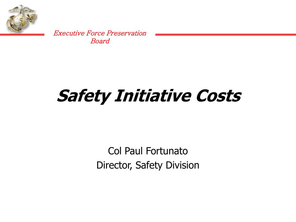 Safety Initiative Costs