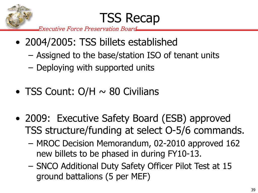 TSS Recap