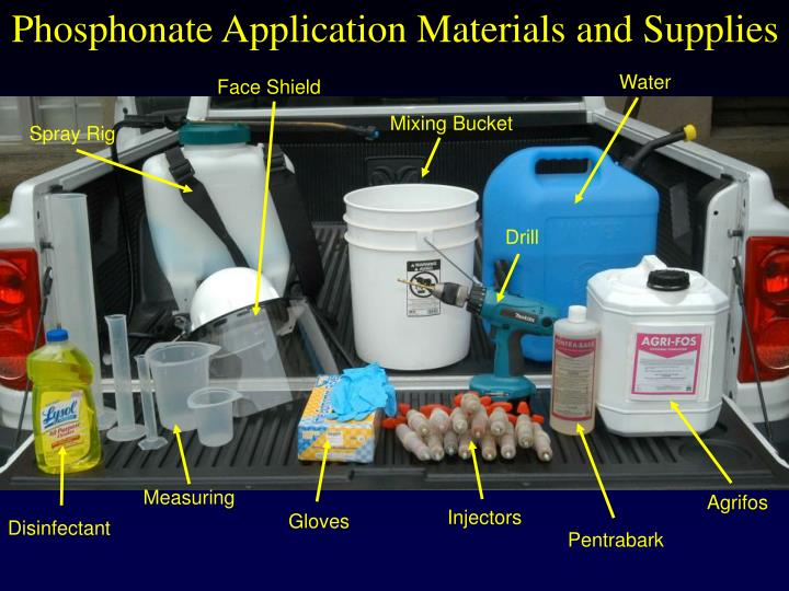 Phosphonate Application Materials and Supplies