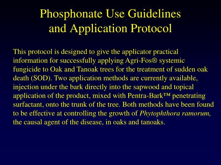 Phosphonate Use Guidelines