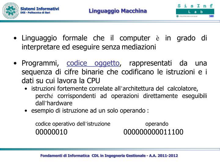 Linguaggio Macchina