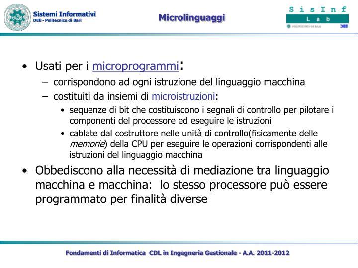 Microlinguaggi