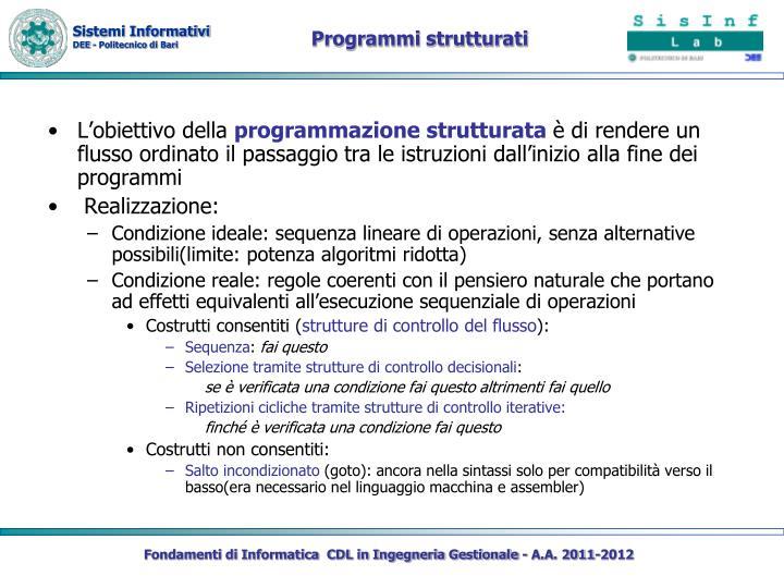 Programmi strutturati