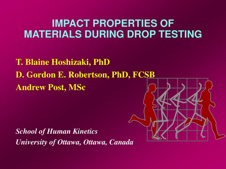 Impact properties of materials during drop testing l.jpg
