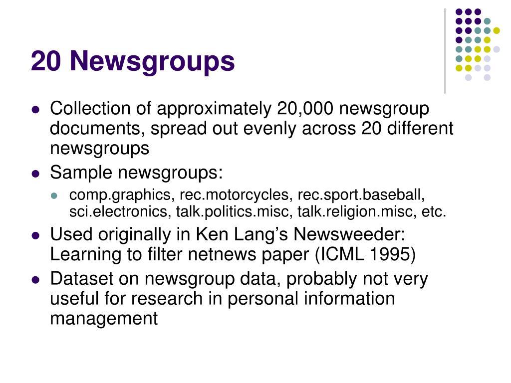 20 Newsgroups