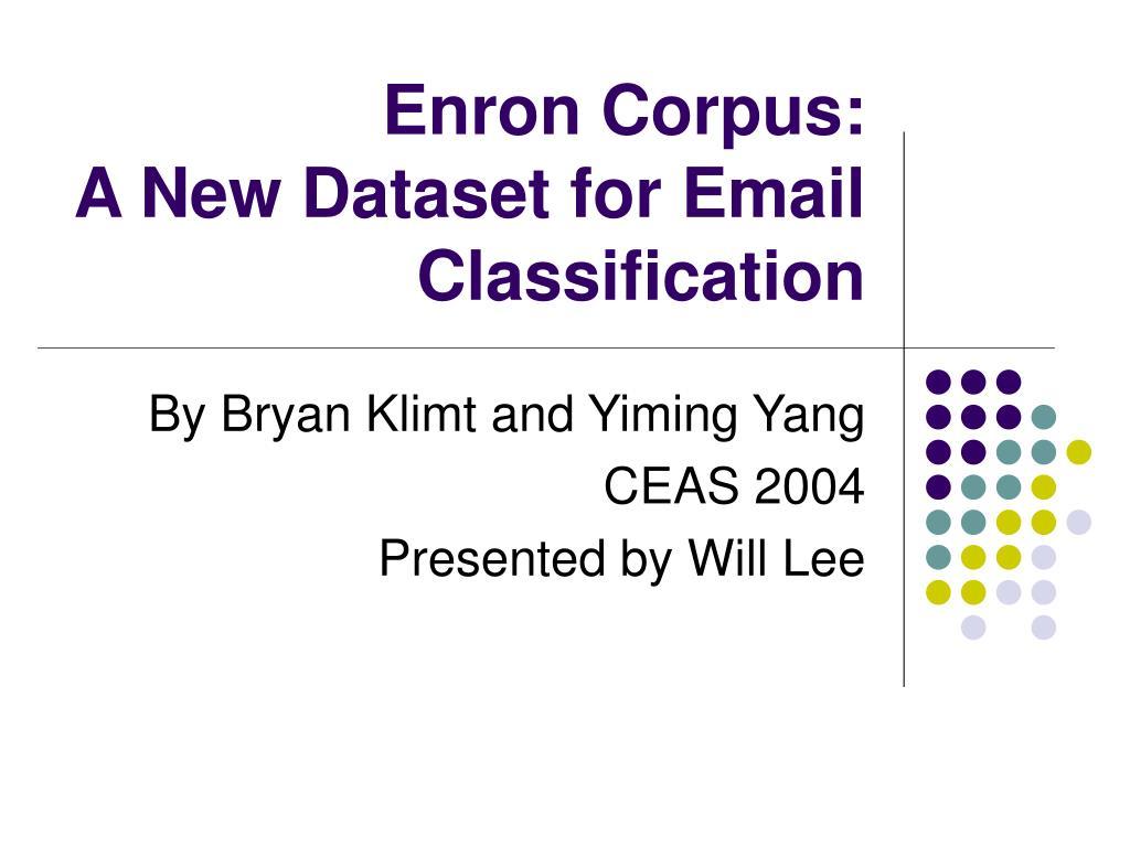 Enron Corpus: