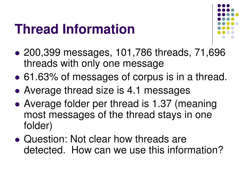 Thread Information