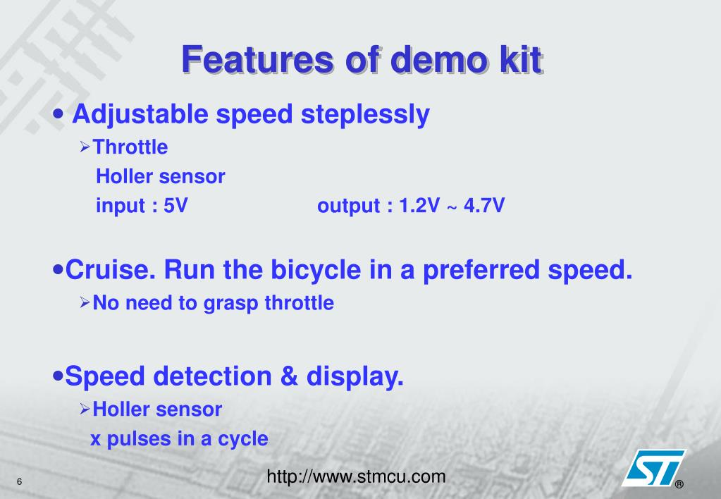 Features of demo kit