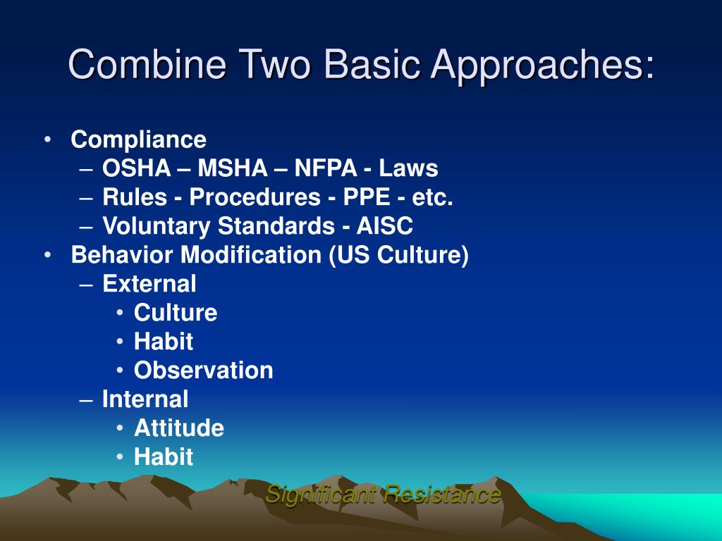 Combine Two Basic Approaches: