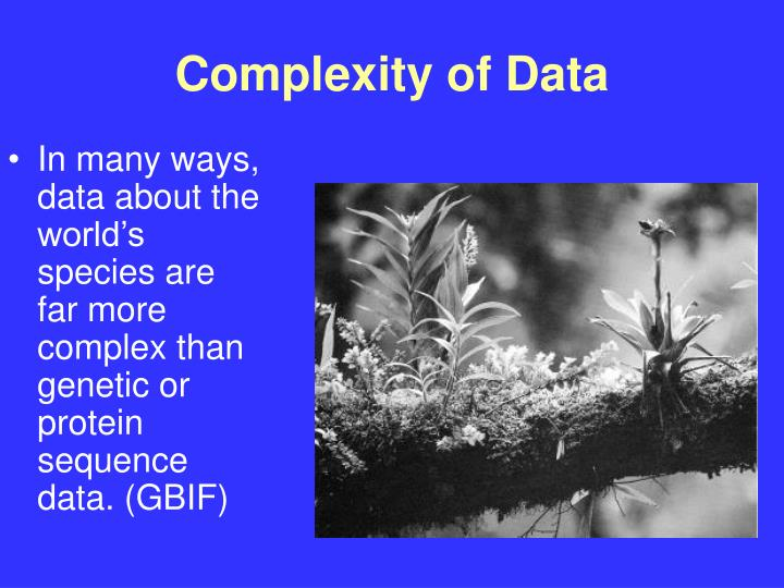 Complexity of Data