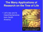 the many applications of research on the tree of life1