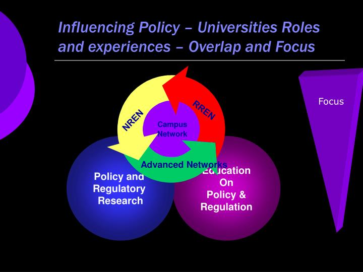 Influencing policy universities roles and experiences overlap and focus