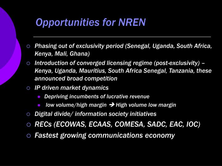 Opportunities for NREN