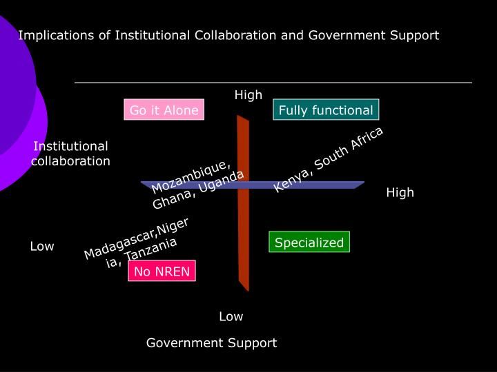 Implications of Institutional Collaboration and Government Support