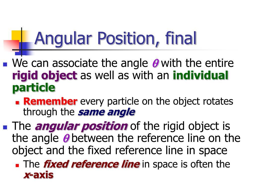 Angular Position, final