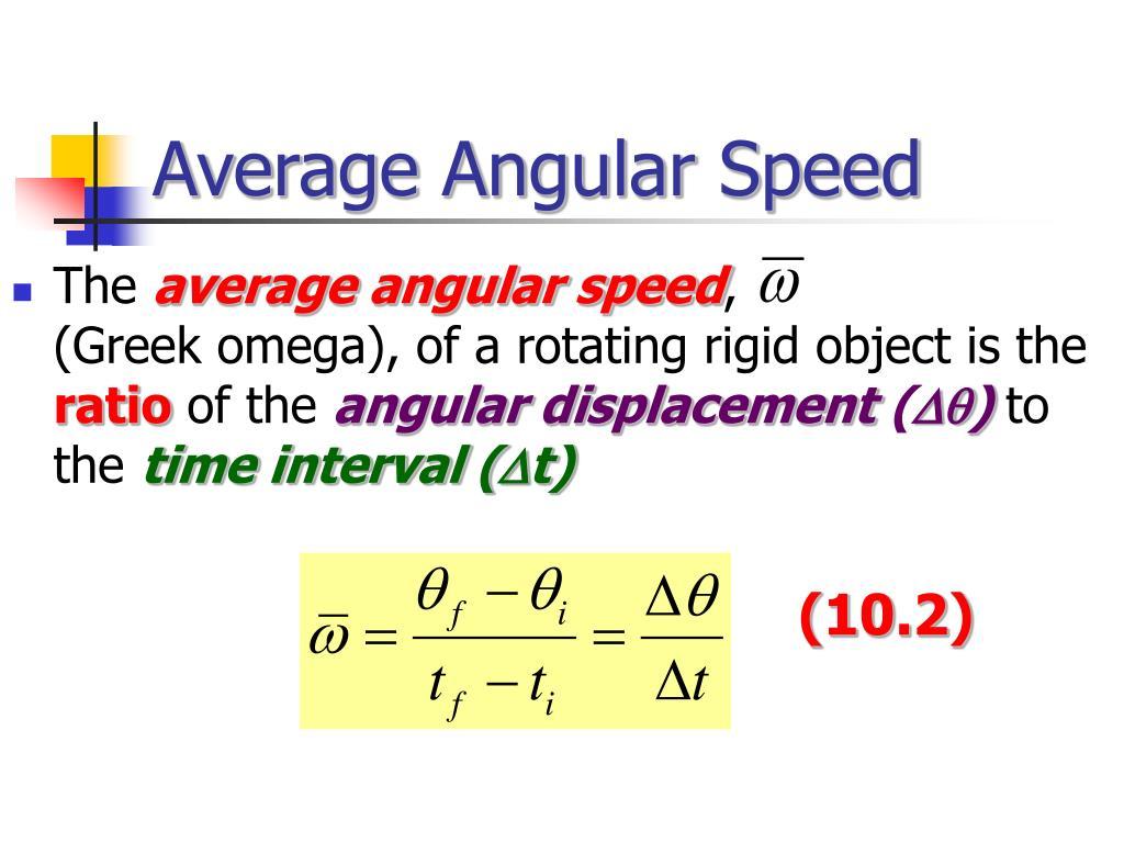 Average Angular Speed