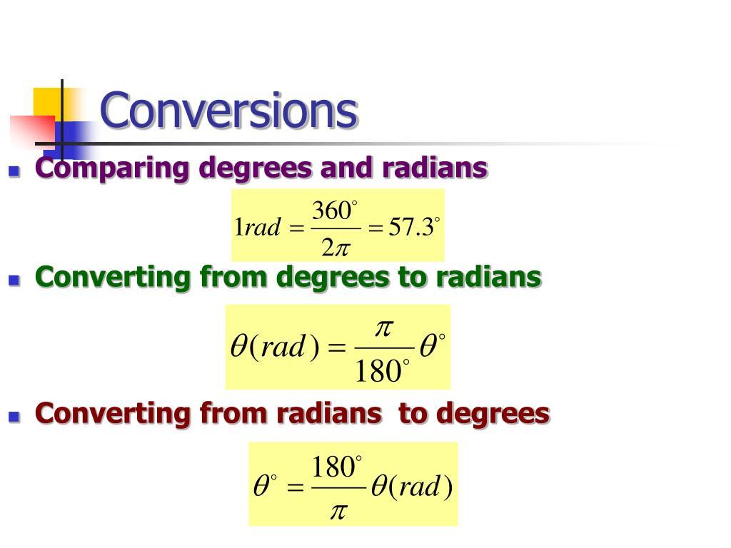 Conversions