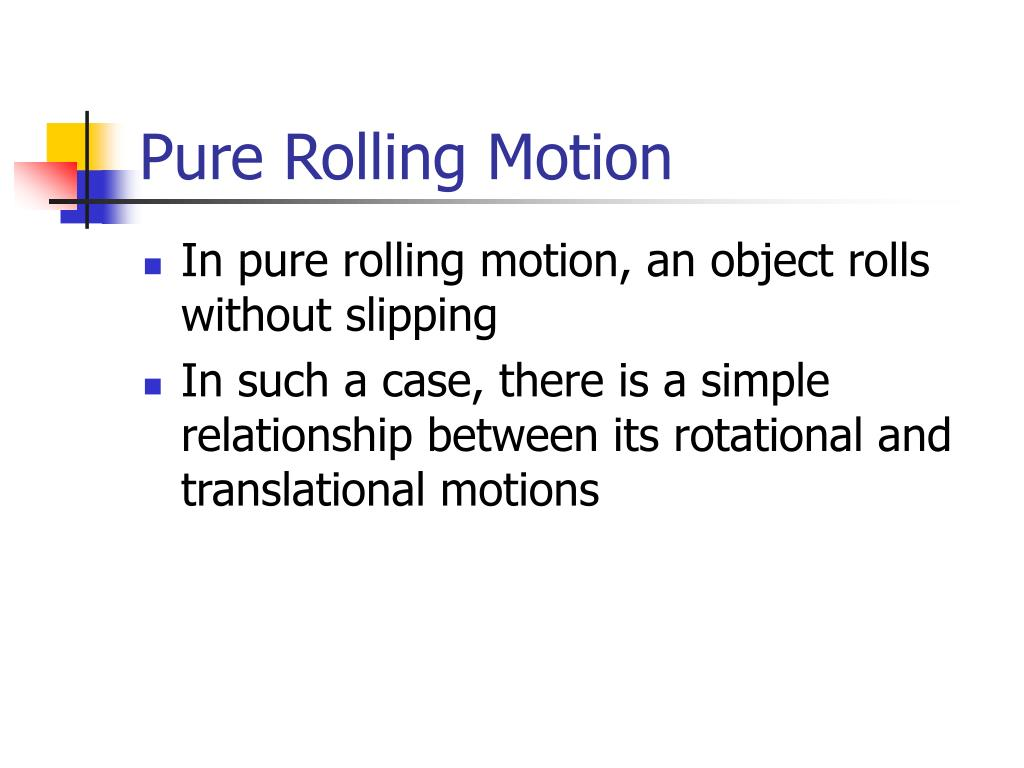 Pure Rolling Motion