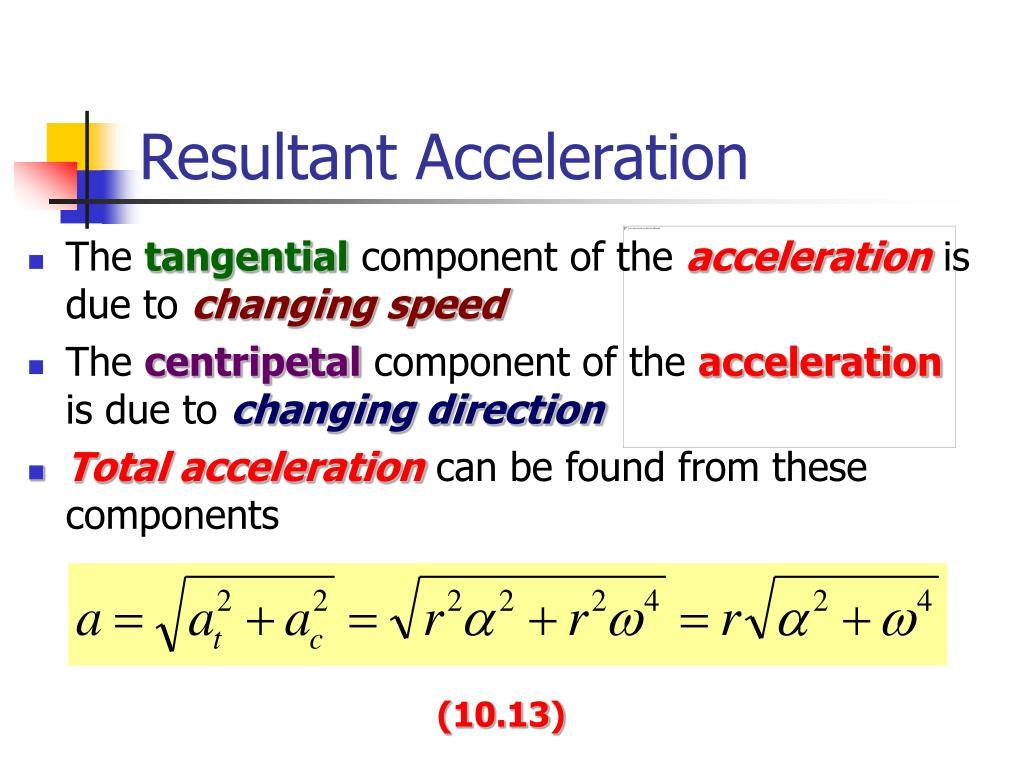 Resultant Acceleration