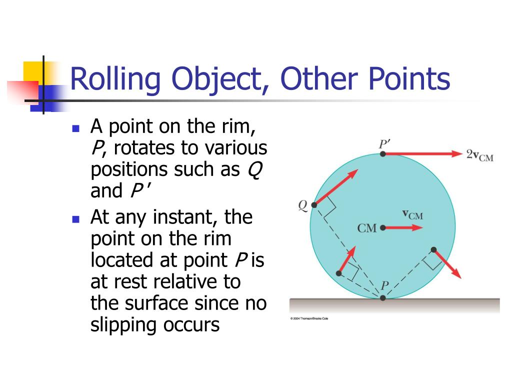 Rolling Object, Other Points