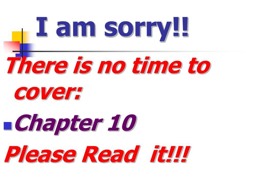 I am sorry!!