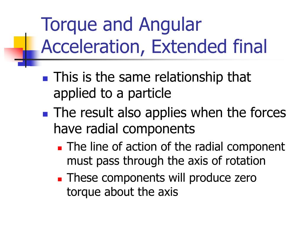 Torque and Angular Acceleration, Extended final