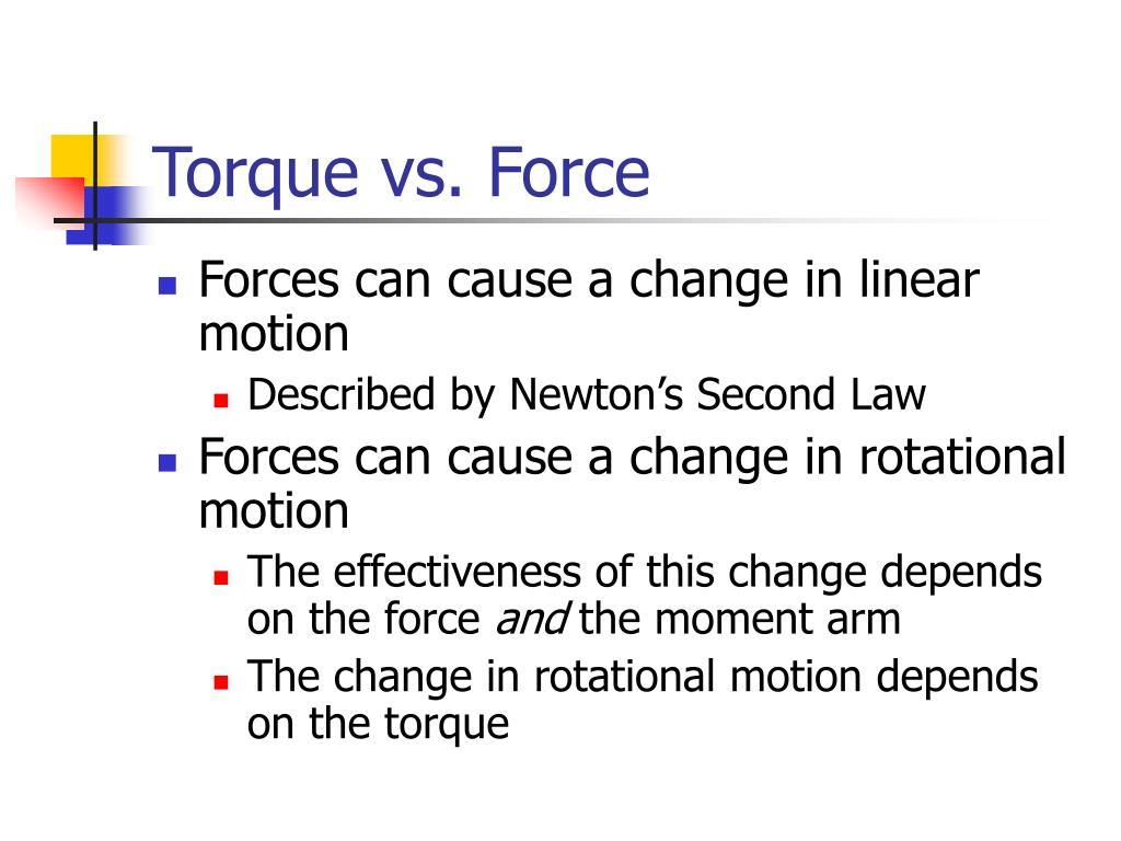 Torque vs. Force