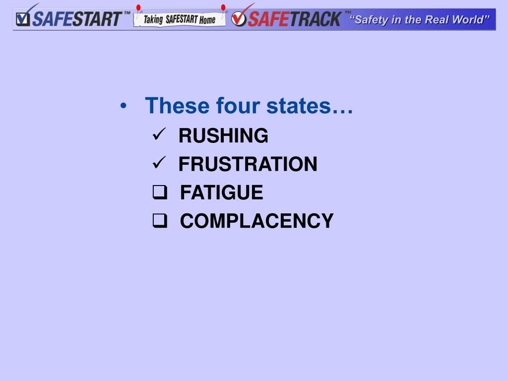 These four states…