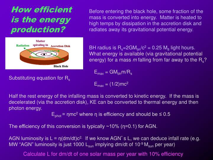 How efficient is the energy production?