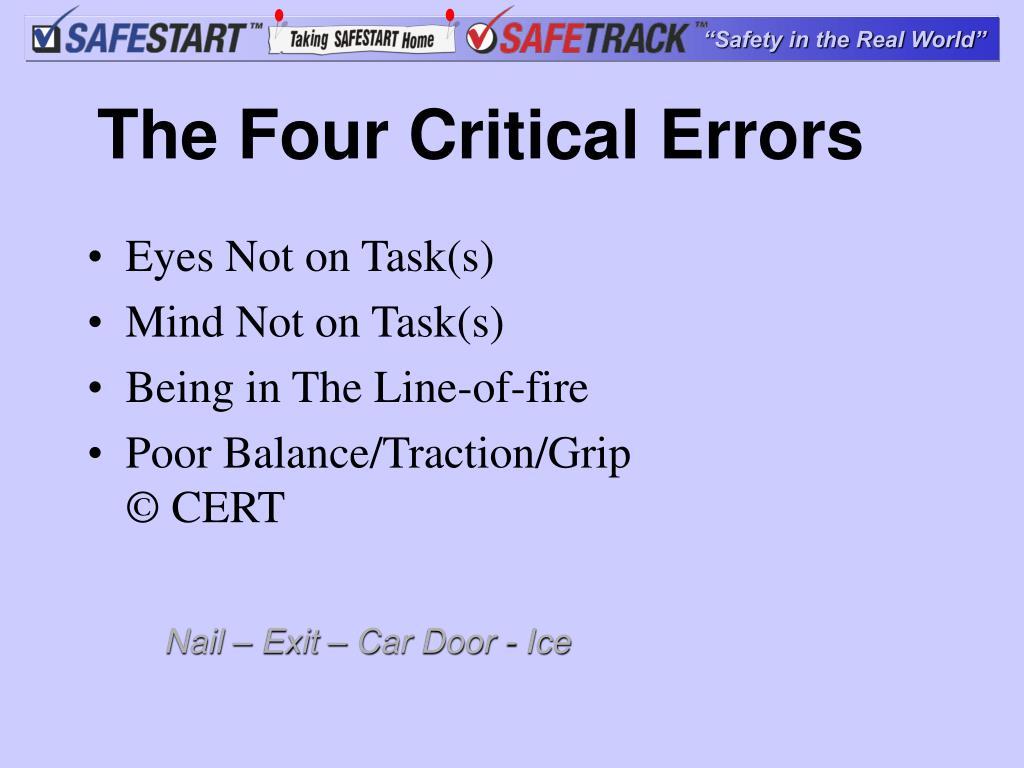 The Four Critical Errors