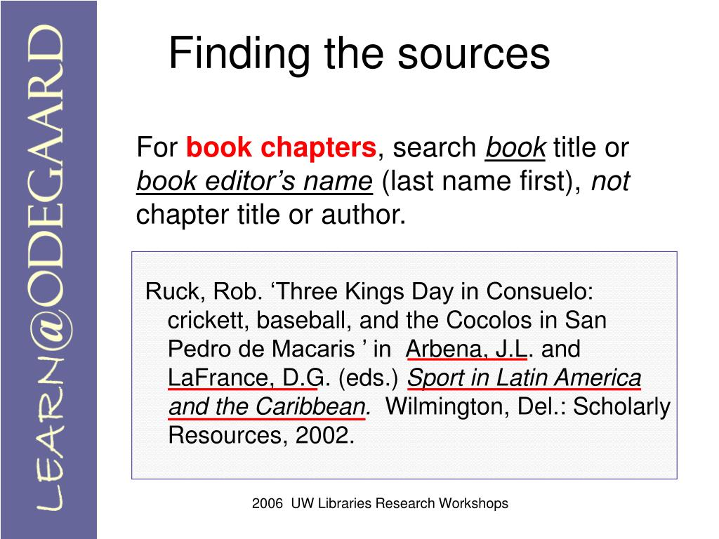 Finding the sources