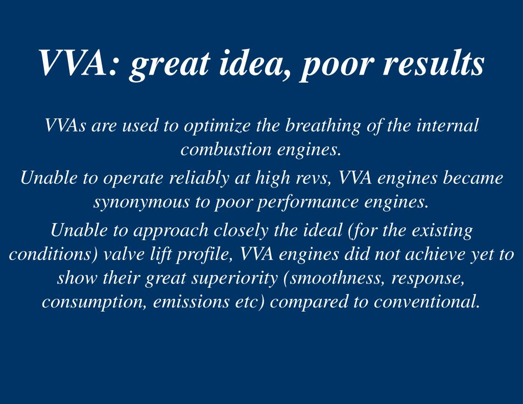 VVA: great idea, poor results
