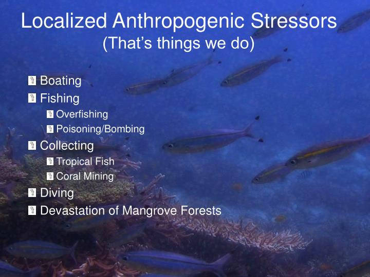 Localized Anthropogenic Stressors