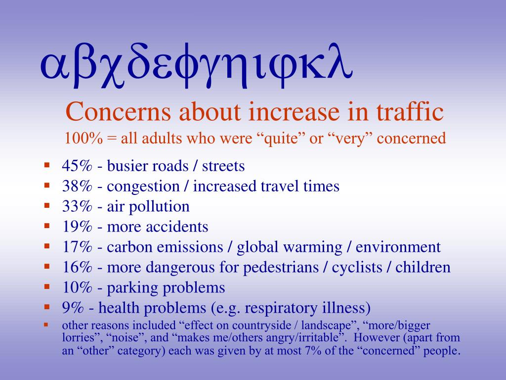 Concerns about increase in traffic