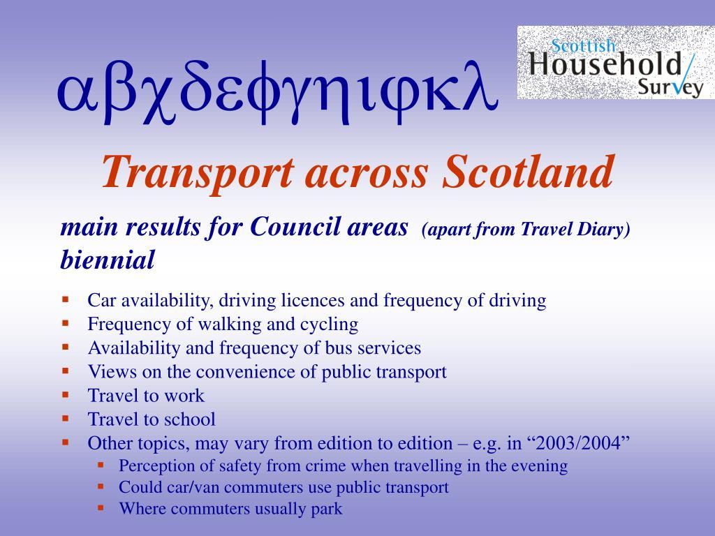 Transport across Scotland
