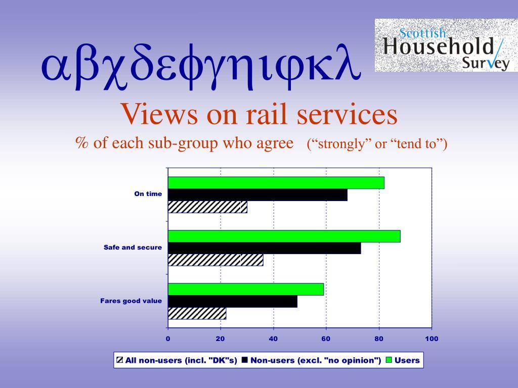 Views on rail services