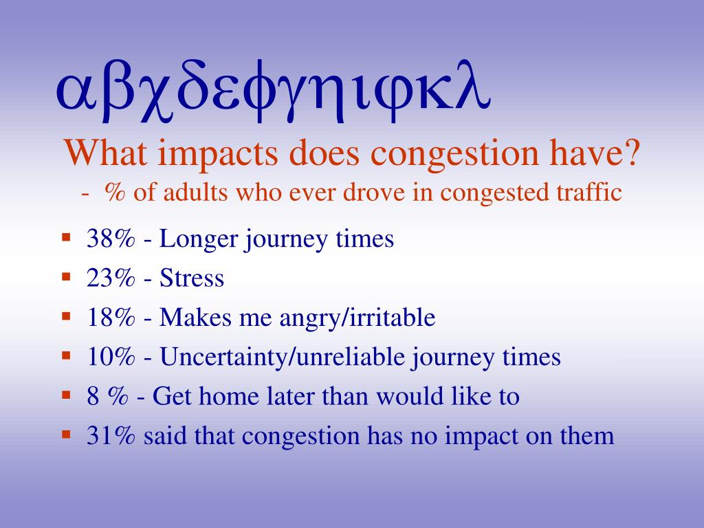 What impacts does congestion have?