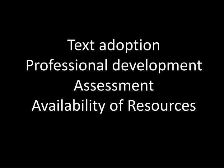 Text adoption