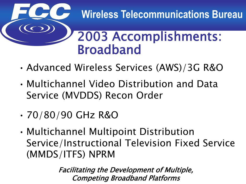 2003 Accomplishments: