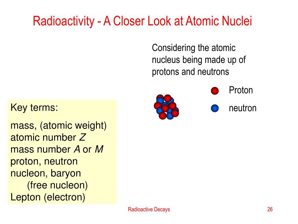 Radioactivity - A Closer Look at Atomic Nuclei