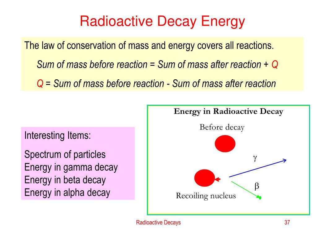 Radioactive Decay Energy