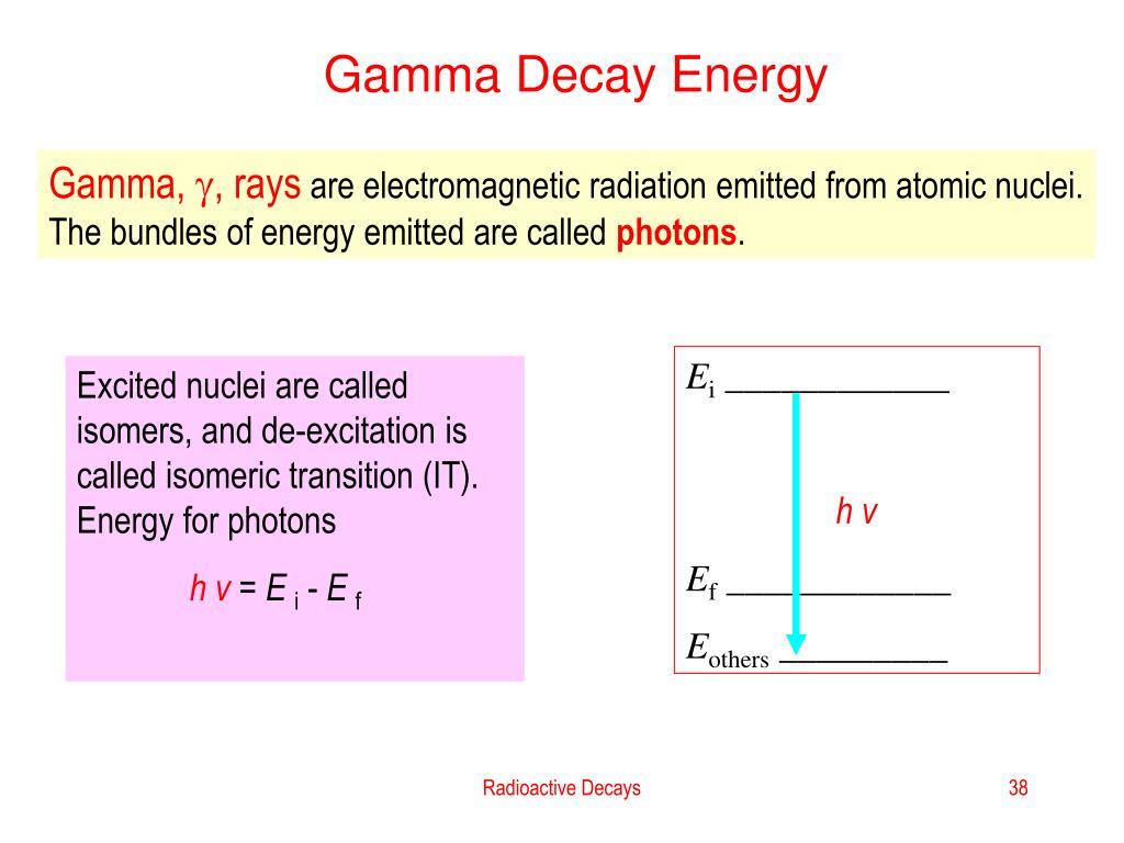 Gamma Decay Energy