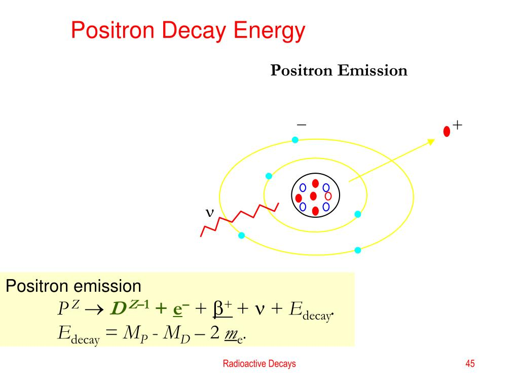 Positron Decay Energy