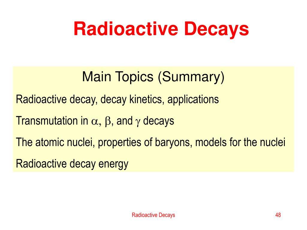 Radioactive Decays