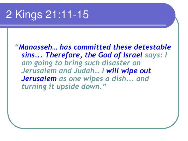 2 Kings 21:11-15