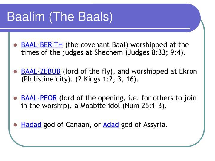 Baalim (The Baals)