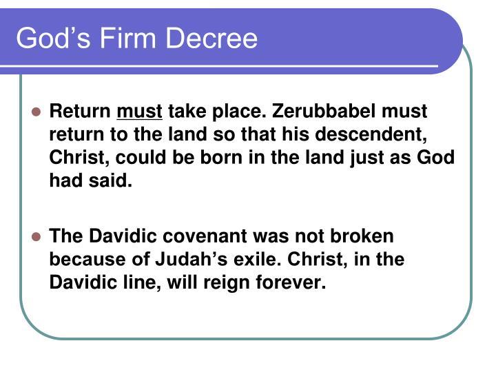 God's Firm Decree