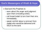 god s messengers of wrath hope