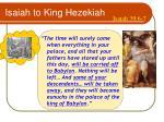 isaiah to king hezekiah
