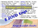 kings of judah south